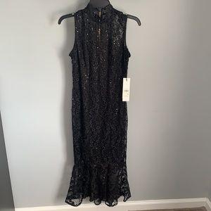 NWT Calvin Klein Ladies Black Decorative Dress